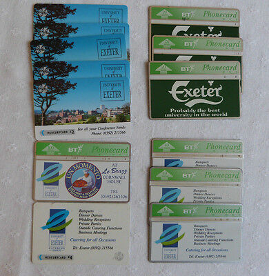 Assorted  Bt And Mercurycard Phone Cards, Exeter University (13)