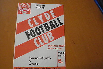 Clyde V Airdrieonians (Airdrie)                                           8/2/75