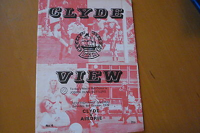 Clyde V Airdrieonians (Airdrie)                                          6/10/79