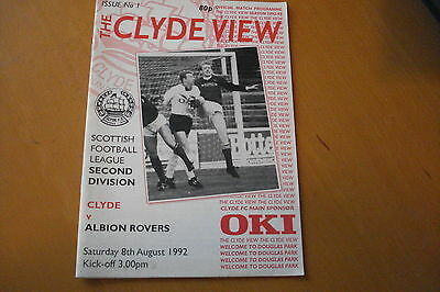 Clyde V Albion Rovers                                                     8/8/92