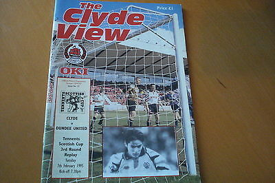 Clyde V Dundee United                      Scottish Cup                   7/2/95