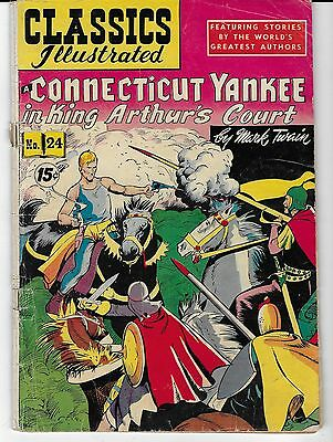 Connecticut Yankee King Arthur's Court Comic Classics Illustrated 1949!