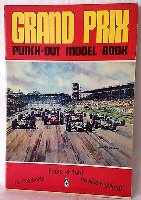 VINTAGE 1960s YWP GRAND PRIX PUNCH-OUT MODEL & PAINTING BOOK FORMULA 1 COLLECTOR