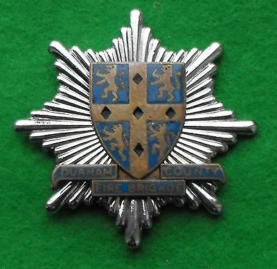 Durham County Fire Brigade Cap Badge pre 1974 Obsolete