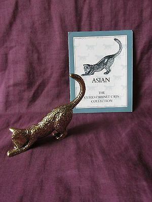 Franklin Mint Curio Cabinet Cat - Asian - With Card - Circa 1986