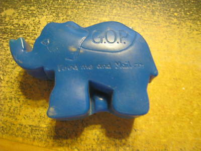 GOP Republican Blue Elephant Fundraising Coin Bank Feed Me Mail Me Vintage