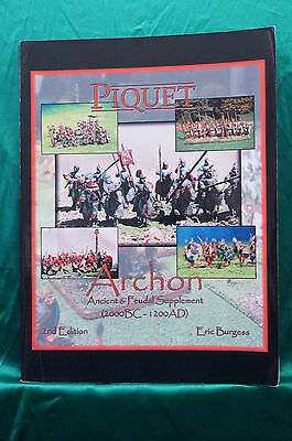 Piquet Archon - Ancient & Feudal Supplement 2000 BC to 1200 AD, 2nd Ed.