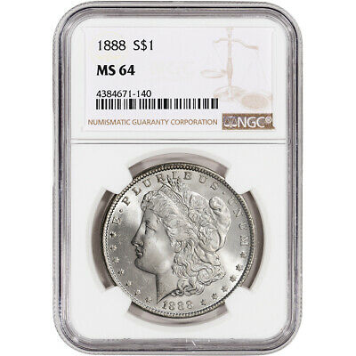 1888 US Morgan Silver Dollar $1 - NGC MS64