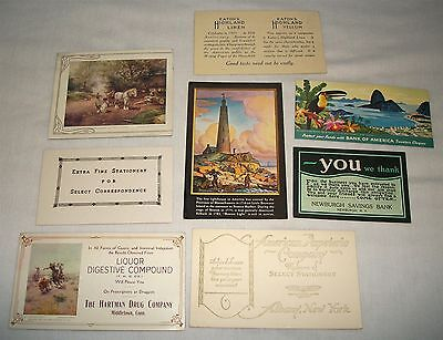 Mixed Vintage Advertising Ink Blotter Lot Bank of America Hartman Drug Co etc