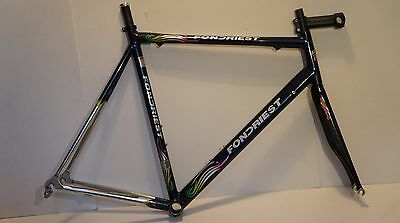 """Fondriest Columbus Altec Racing Bicycle Frame + Ambrosio 1"""" Carbon Forks Colnago"""