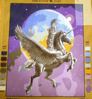 UNICORN FLYING - Tapestry Canvas (New) by COLLECTION D'ART