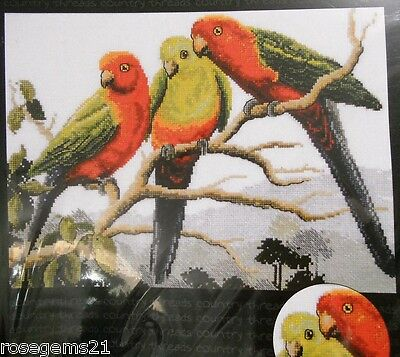 KING PARROTS - Cross Stitch Chart by COUNTRY THREADS, Australia
