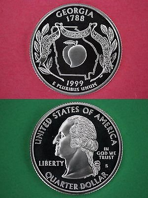 Silver 1999-S Georgia Proof Deep Cameo State Quarter Combined Shipping