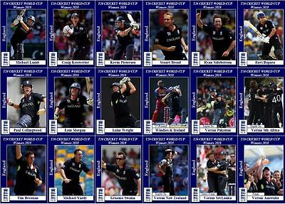 England's T20 World Cup Final victory 2010 cricket Trading Cards