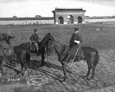 1900 MR China Brigadier General J.H. Wilson Temple Agriculture Peking 8x10 Photo