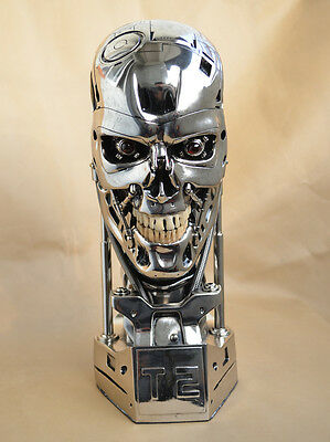 1:1Silver Color  Terminator Salvation T800 Skull Resin Replica Collectibles