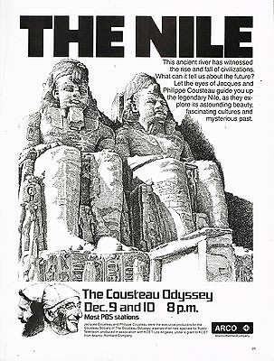 Arco - The Nile - The Cousteau Odyssey  Jacques Philippe 1979 Magazine Ad Advert