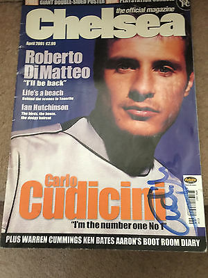 Chelsea Official Magazine April 2001 - Signed by Carlo Cudicini