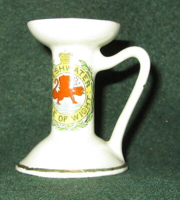 Botolph Crested China, Freshwater Isle Of Wight Candle Holder