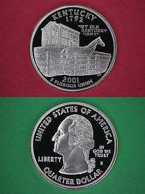 Silver 2001-S Kentucky Proof State Quarter Deep Cameo Flat Rate Shipping
