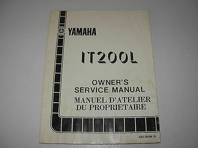 Yamaha IT200L  Motorcycle Service Manual , 1983