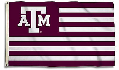 6c816834f Texas A&M Aggies 35630 Stripes NATION 3x5 Flag w/grommets Banner University