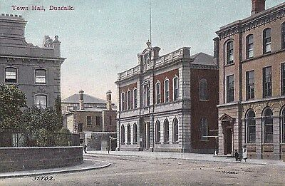 g irish postcard ireland louth town hall dundalk