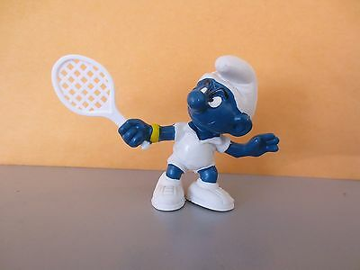 Rarely seen smurf with a WHITE tennis raquet have a look