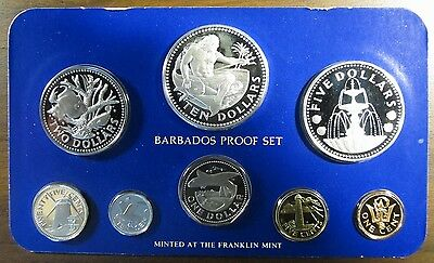 1980 Barbados Proof Set 8 Coin Set - 1.927 Actual Silver Weight