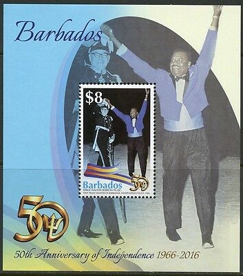 BARBADOS 2016 50th ANNIVERSARY OF INDEPENDENCE  SOUVENIR SHEET MINT NH