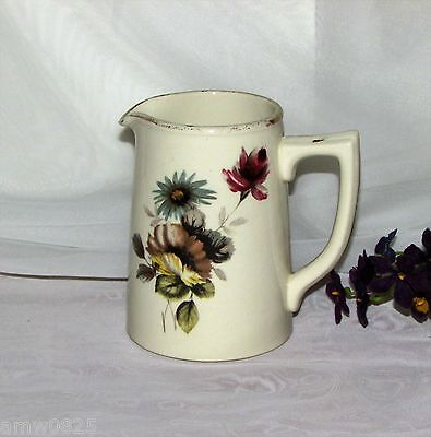 Vintage Sadler Creamer Staffordshire England Blue Yellow Purple Flowers 3515