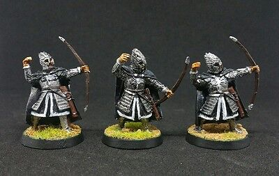 3 x Minas Tirith Citadel Guard Archers well painted metal LOTR The Hobbit OOP