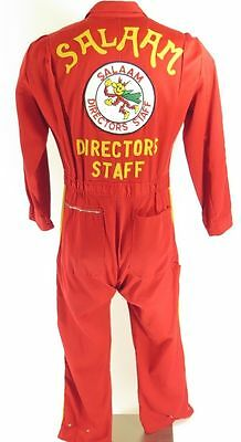 Vintage 60s Camp Coveralls Mens 40 50/50 Walls Master Made Red Patch Salaam
