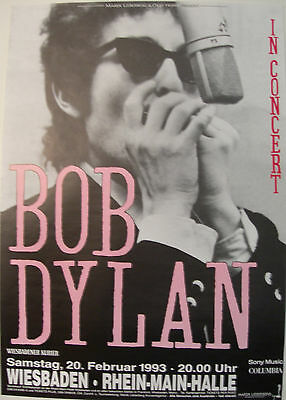 Bob Dylan Concert Tour Poster 1993 World Gone Wrong