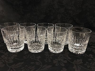 """Waterford Maeve Tramore 3  1/2"""" Old Fashioned Glasses Clear Cut Crystal Set Of 7"""