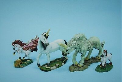 Clearance painted Ral Partha Unicorns & Pegasus (4) (30 day listing)