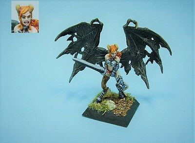 Confrontation painted miniature Female Succubus (30 day listing)
