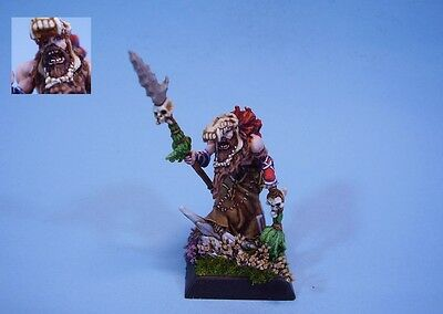 Confrontation painted miniature Barbarian Shaman (30 day listing)