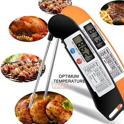 Instant Read Foldable Digital Food Kitchen Cooking Meat BBQ Grill Thermometer