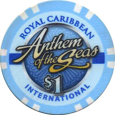ANTHEM OF THE SEAS $1 Casino Chip Royal Caribbean International RCI Cruise Line