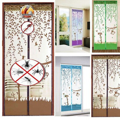 Mesh Window Door Curtain Magnetic Fly Bug Anti Insect Mosquito Screen Net Guard
