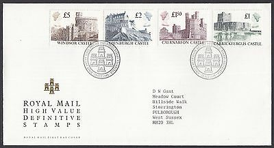 1988  £1 - £5 Castle Definitives  - With Insert Card   Fdc   (1653)