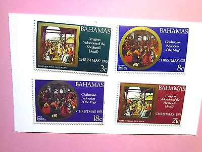 BAHAMAS: 1975  Christmas/Religious Paintings 4vals LMM Sg541/4