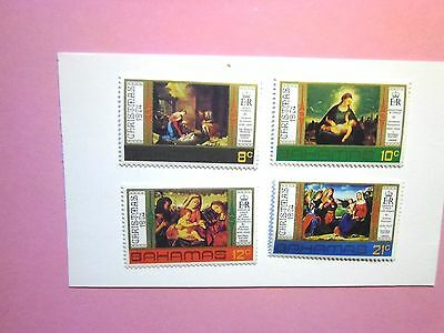 BAHAMAS: 1974  Christmas/Religious Paintings 4vals M/Mint Sg434/37