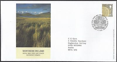2002  68p NORTHERN IRELAND  DEFINITIVE  - WITH INSERT CARD  FDC  (1667)
