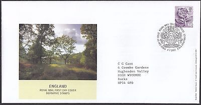 2002  68p ENGLAND DEFINITIVE  - WITH INSERT CARD  FDC  (1670)