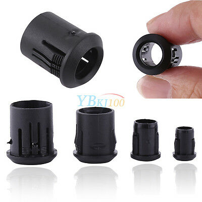 50Pcs 3mm 5mm 8mm 10mm Black Plastic LED Lamp Diode Holder Clip Bezel Mount Hot
