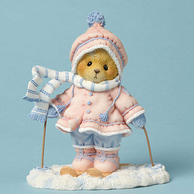 Cherished Teddies Time with You is Snow Much Fun Aimee Skiing Bear Figurine