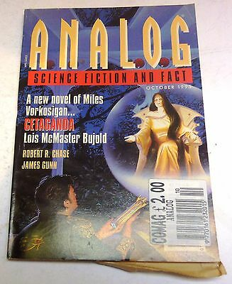 Analog Science Fiction and Fact - US Digest – October 1995 - Bujold, Gunn