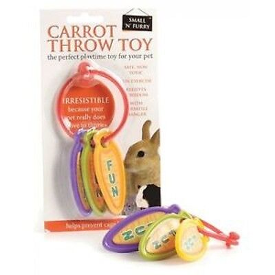 Small 'N' Furry Carrot Throw Toy Rabbit Chew Toy - PLASTIC Small Pets Guinea Pig